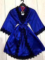 Яркий комплект с нежным кружевом халат и пеньюар, фото 1