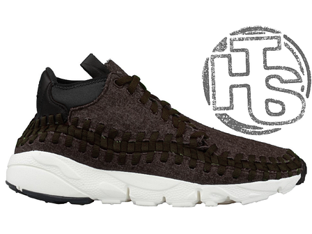 Мужские кроссовки Nike Air Footscape Woven Chukka Black/Black-Ivory 857874-001, фото 2