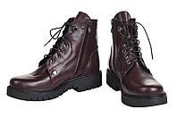 Женские ботинки на шнурках и молнии низкий ход демисезон