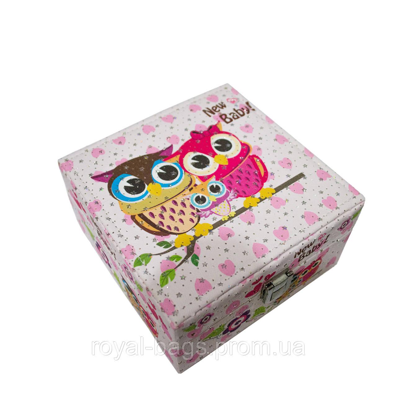 """Шкатулка для украшений """"Fantastic"""" 6 Рисунков (Owl)"""
