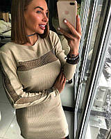 Красивое и стильное люрексовое платье трикотаж , фото 1