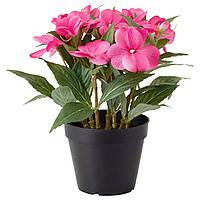 """ИКЕА """"ФЕЙКА"""" Искусственное вазонное растение, розовая недотрога, 29см"""