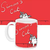 Чашка печать на кружке с принтом Simon's Cat