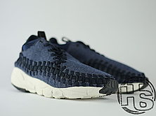Чоловічі кросівки Nike Air Footscape Woven Chukka SE Obsidian Black/Sail 857874-400, фото 3