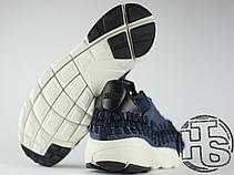 Мужские кроссовки Nike Air Footscape Woven Chukka SE Obsidian Black/Sail 857874-400, фото 3
