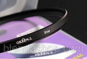 Звездный (STAR-4), 4-х лучевой светофильтр Green.L 49 мм