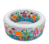 Бассейн детский надувной Подводный мир Intex