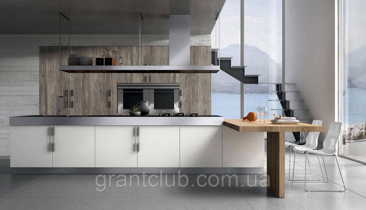 Итальянская современная белая кухня с длинными ручками YPSILON фабрика Armony Cucine