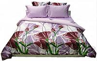 Комплект постельного белья Руно полуторный бордо сатин Мако арт.1.137ЖК