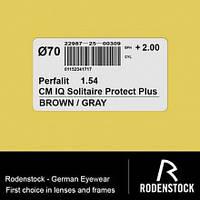 Фотохромная линза Perfalit Brown/Grey 1,54 Solitaire Protect Plus 2 марочная. Rodenstock (Германия)