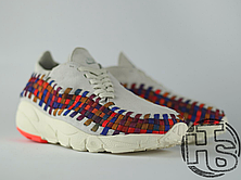 Женские кроссовки Nike Air Footscape Woven White Bone/Rainbow 874892-002, фото 3