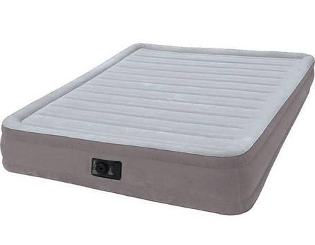 Надувная двуспальная велюровая кровать Intex 67770 со встроенным насосом, фото 2
