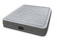 Надувная двуспальная велюровая кровать Intex 67770 со встроенным насосом, фото 3