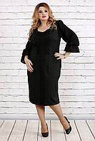 Платье 0746-1 темно-зеленый большого размера 42-74 батал | Индивидуальный пошив
