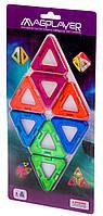 Детский магнитный конструктор дополнительный набор 8 деталей, MagPlayer