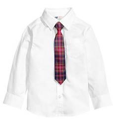Белая Рубашка с галстуком   H&M (США) (Размер 7-8 лет)