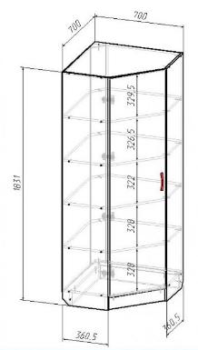 Шкаф файловый угловой В-183, фото 2