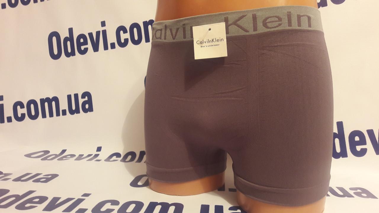 Копия Calvin Klein боксы мужские бесшовка серый цвет