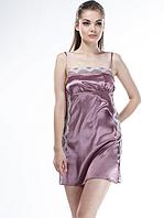 Шелковая ночная рубашка женская