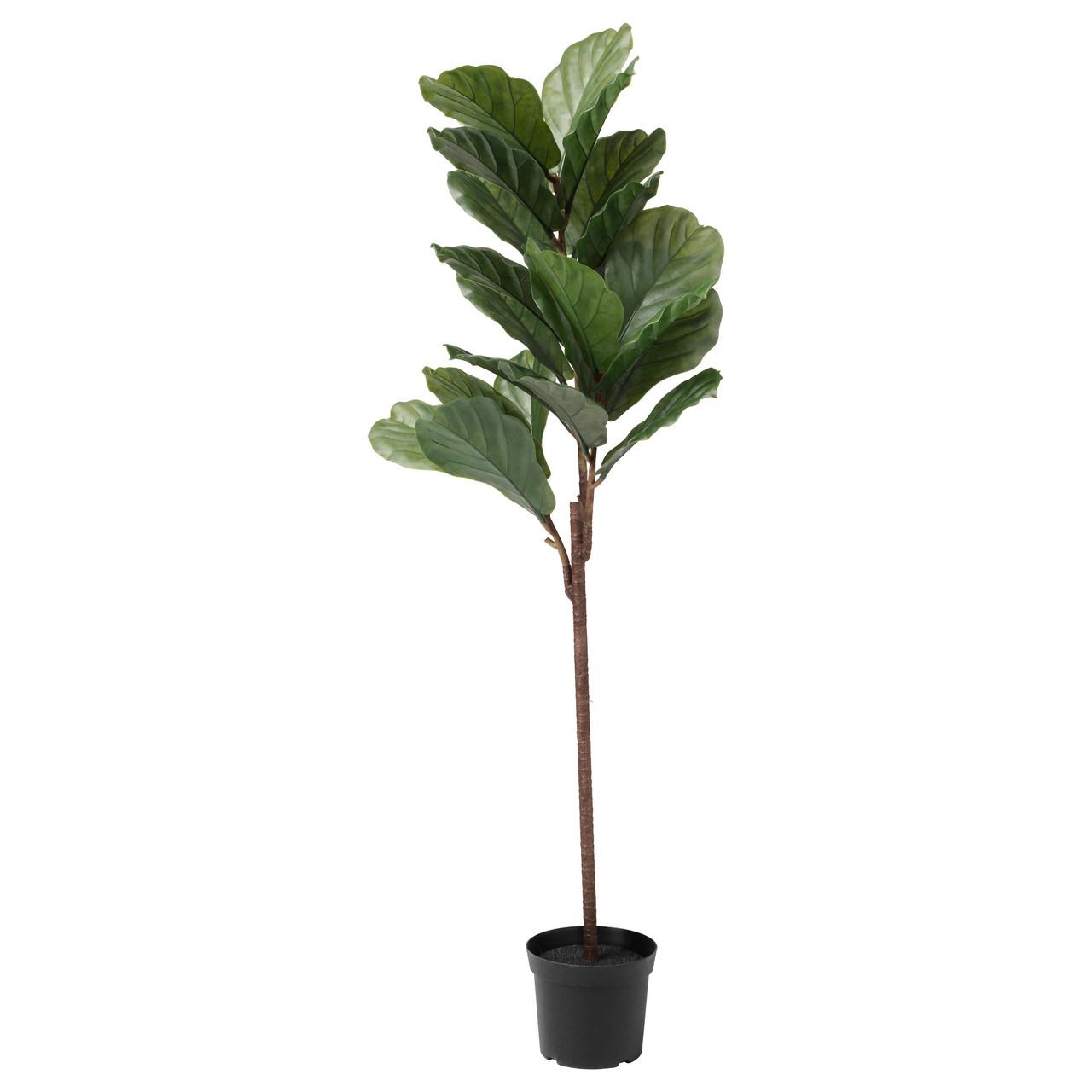 """ИКЕА """"ФЕЙКА"""" Искусственное растение в горшке, для дома и улицы фикус лировидный, 145см."""