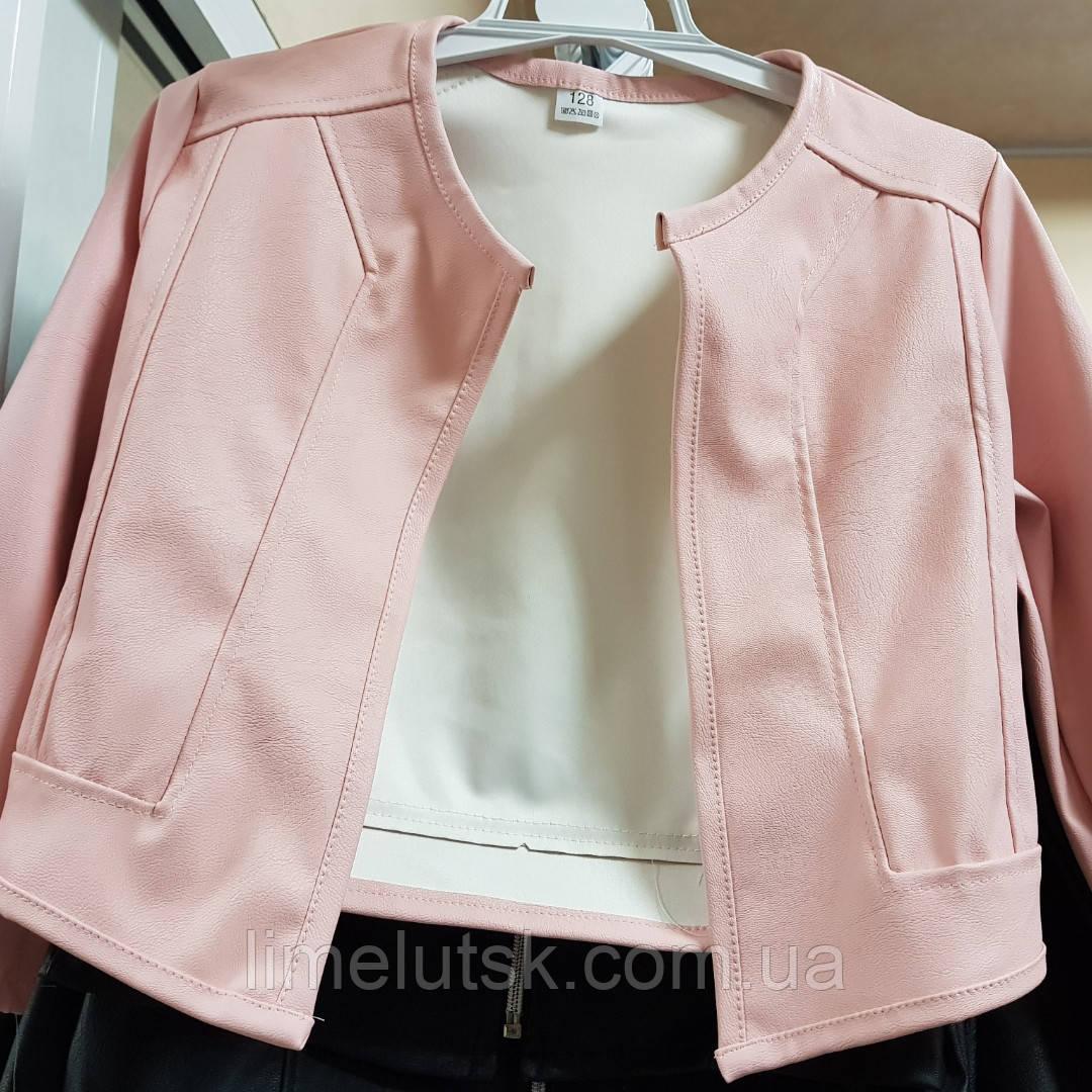 b7fcc87948b Модная демисезонная куртка для девочки из кожзама 110-152  продажа ...