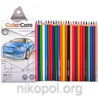 Набор цветных карандашей MARCO ColorCore 3100-24CB, 24+1 цвета