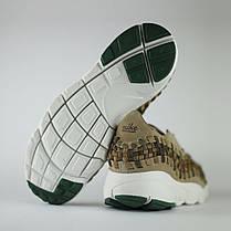 Мужские кроссовки Nike Air Footscape Woven кофейные топ реплика, фото 3