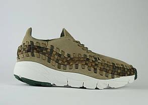 Мужские кроссовки Nike Air Footscape Woven кофейные топ реплика, фото 2