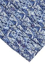 Синяя рубашка с морским узором KS1778-1 разм. XXL, фото 2