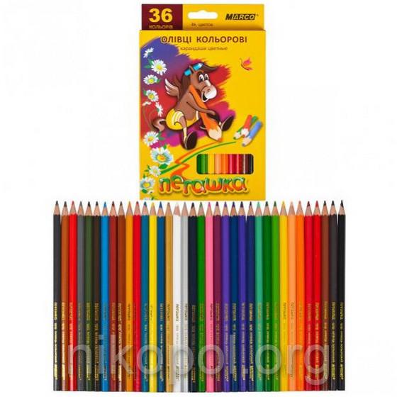 Набор цветных карандашей MARCO Пегашка 1010-36CB, 36 цветов