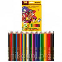 Набор цветных карандашей MARCO Пегашка 1010-36CB, 36 цветов, фото 1