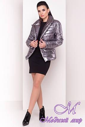 Женская демисезонная куртка фольга (р. XS, S, M, L) арт. Мириам 4562 - 21646, фото 2