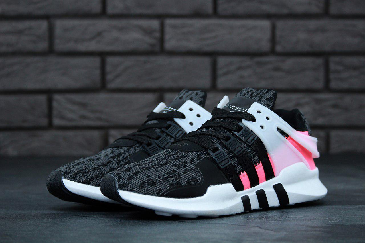 Женские кроссовки Adidas Equipment EQT Grey/Pink топ реплика