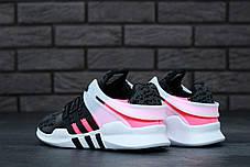 Женские кроссовки Adidas Equipment EQT Grey/Pink топ реплика, фото 3