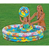 Детский надувной бассейн Intex 59469 с надувным кругом и мячом 132*28см