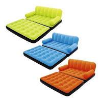 Надувной раскладной диван трансформер Bestway 67356 три цвета с насосом 188 х 152 х 64 см, фото 1
