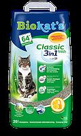Наполнитель Gimpet Biokat's Classic Fresh 3in1 для кошек глиняный, 20 л