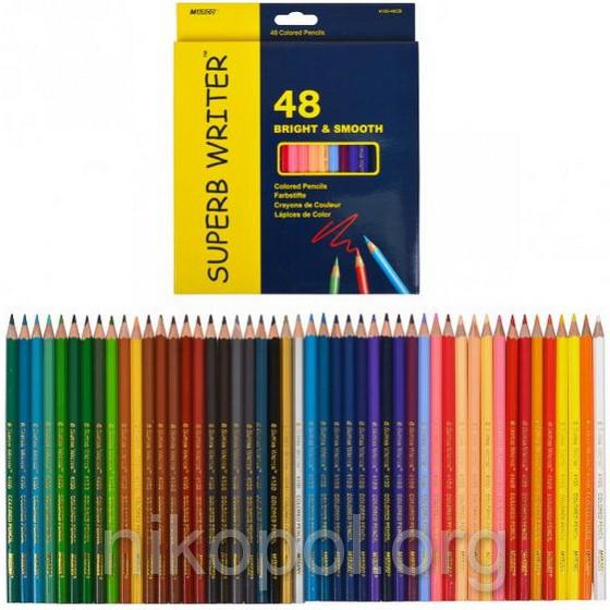 Набір кольорових олівців MARCO Superb Writer 4100-48CB, 48 кольорів