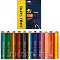 Набір кольорових олівців MARCO Superb Writer 4100-48CB, 48 кольорів, фото 1