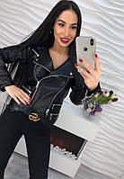 Женская кожаная куртка 1610 DB-5308