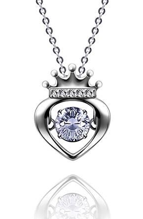 "Серебряный кулон  Kigmay Jewelry ""Танцующее сердце с короной"", фото 2"