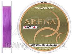 Шнур Favorite Arena PE 4*150m (purple) #0.175/0.071м 3.5LB 1.4кг