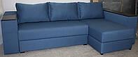 Угловой диван Лондон  с мини баром и нишей на еврокнижке, фото 1