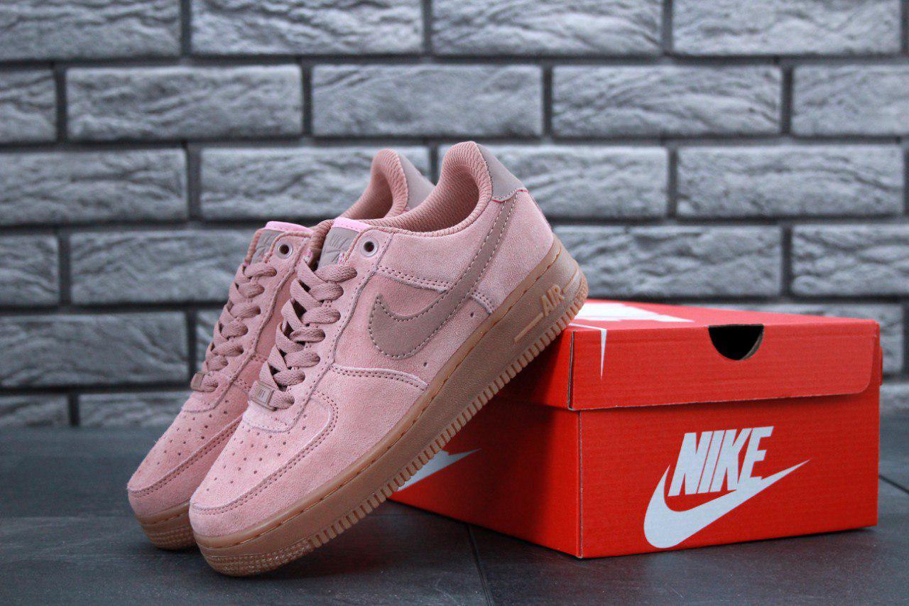 Кроссовки женские Nike Air Force 1 Low Pink топ реплика