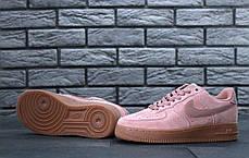 Кроссовки женские Nike Air Force 1 Low Pink топ реплика, фото 3