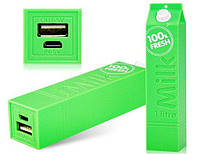 Внешний аккумулятор power bank milk 2600