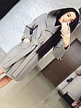 "Стильне жіноче демісезонне пальто кашемірове з капюшоном ""Gloria"" (3 кольори), фото 4"