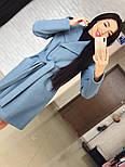 "Стильне жіноче демісезонне пальто кашемірове з капюшоном ""Gloria"" (3 кольори), фото 6"