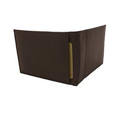 Мужской кошелек -  портмоне  BI- FOLD из натуральной кожи генуя коричневый, фото 3