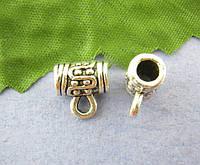 "Бусина / Бейл, "" S "", Держатель для кулона, Античное серебро, 10 мм * 6 мм"